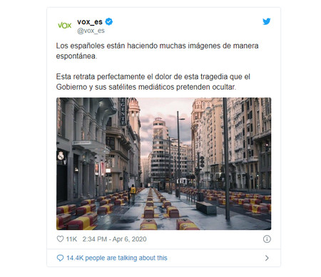 Tweet Vox Madrid