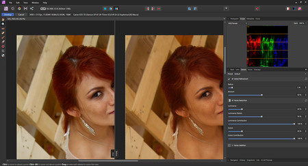 reductor de ruido en affinity photo