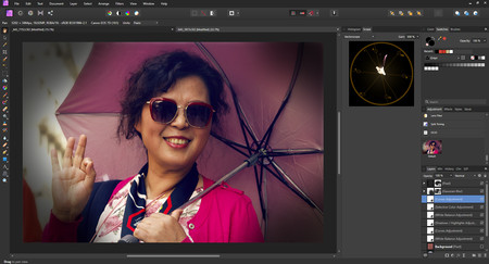 máscaras de color en affinity photo