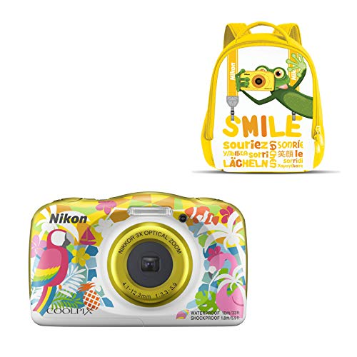 "Nikon Coolpix W 150 - Cámara digital compacta de 13.2 MP (pantalla LCD de 3"", video full HD, impermeable, estabilizador óptico) amarillo/blanco"
