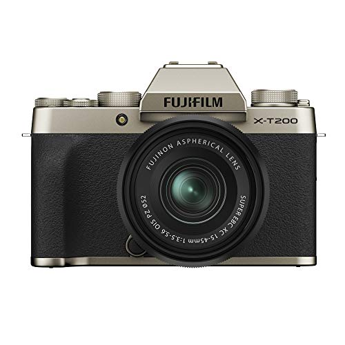 Fujifilm X-T200 - Kit cámara con objetivo intercambiable XC15-45/3.5-5.6 PZ, color dorado