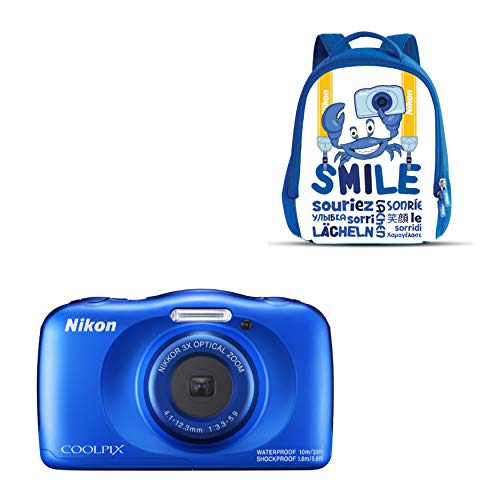 "Nikon Coolpix W 150 - Cámara Digital compacta de 13.2 MP (Pantalla LCD de 3"", Video Full HD, Impermeable, estabilizador óptico) Azul"