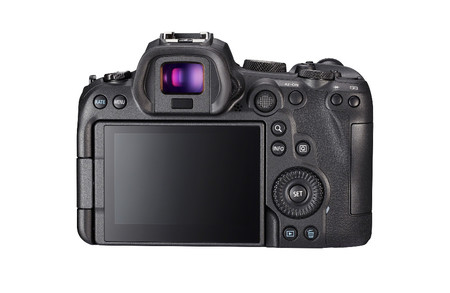 Eos R6 Back Showing