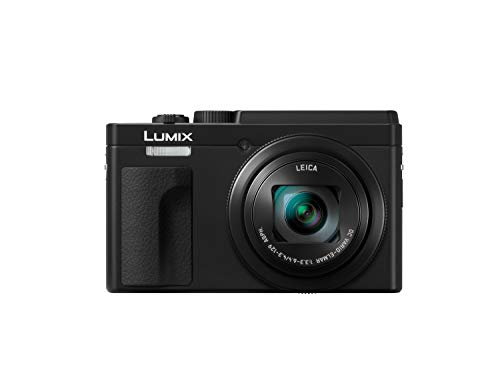 Panasonic Lumix DC-TZ95 - Cámara Compacta de 21.1 mp (Super Zoom, 10fps, Objetivo F3.3-F6.4 de 24-720mm, Zoom de 30X, Pantalla Abatible, 4K, Wifi, Bluetooth, RAW), Color Negro