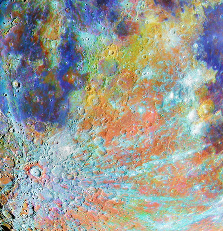 Om 40753 11 Winner Tycho Crater Region With Colours A C Alain Paillou
