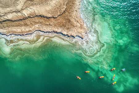 Skypixel 6th Anniversary Contest Photo Group Second Prize Sport Dead Sea Kayak Exploration